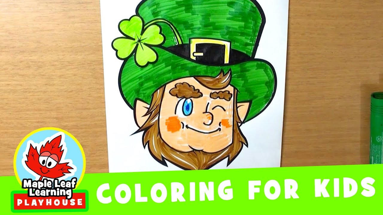 Leprechaun Coloring Page for Kids | Maple Leaf Learning Playhouse ...