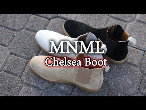 BEST Affordable Chelsea Boots? | MNML LA Black, Tan & Grey Crepe Boot On-Feet