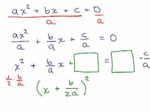 completing the square quadratic formula 1 youtube