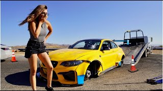 THIS GIRL WRECKED MY BMW!! (ACTUAL FOOTAGE)