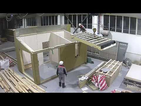 """Производство каркасно-панельных домов. Prefabricated house. ООО """"Ляховичидрев Экспорт"""""""