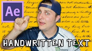 How To Make Handwritten Text In After Effects