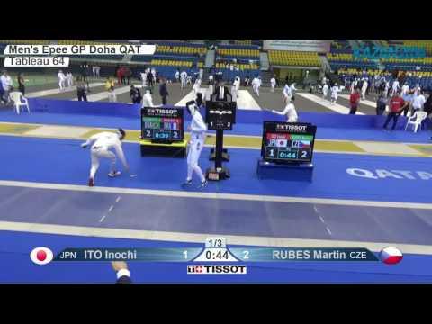 FE M E Individual Doha QAT Grand Prix 2016 T64 18 blue RUBES CZE vs ITO JPN