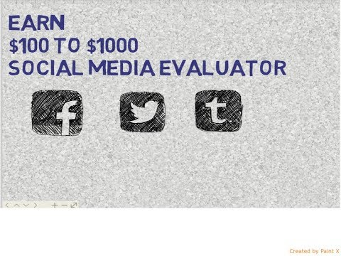Online Job opportunity as social media evaluator