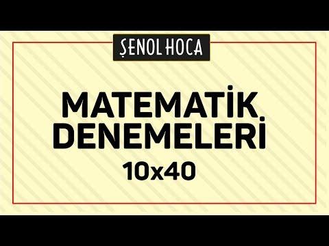 Matematik Denemesi 10x40 Şenol Hoca Matematik
