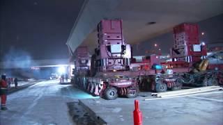 Accelerated Bridge Construction (ABC) Installs Light Rail Bridge Spans