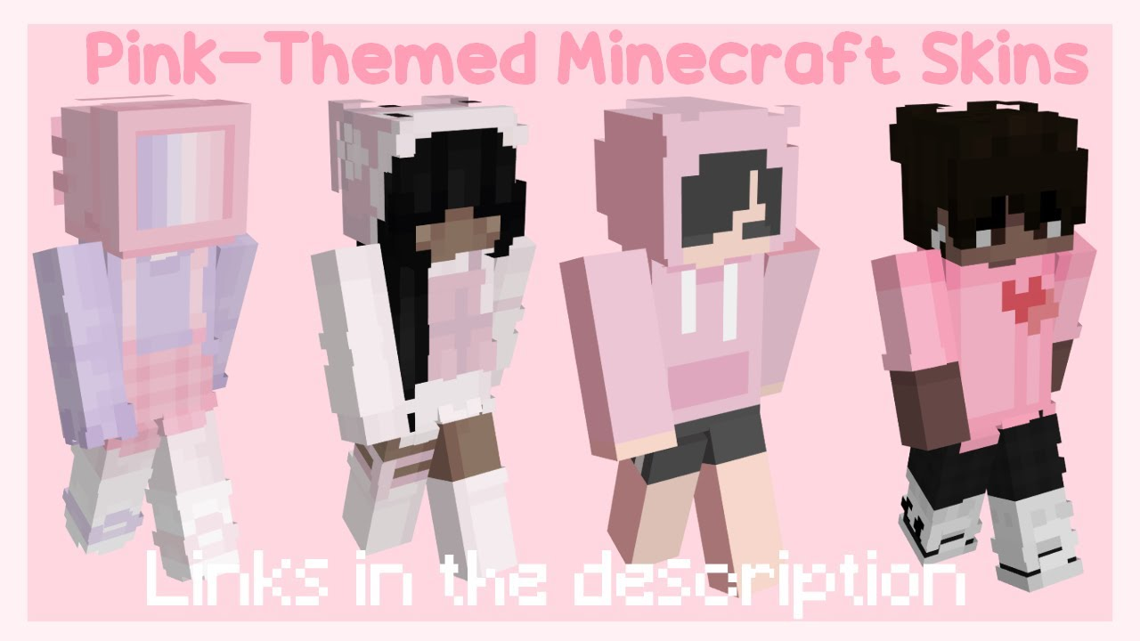 aesthetic pink minecraft skins 🌸   links in the description