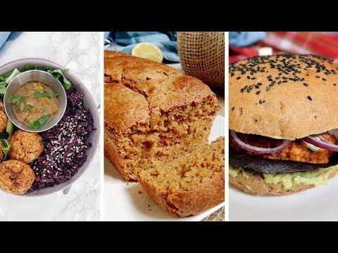 une-journée-dans-mon-assiette-vegan-🍠-recettes-cake-au-citron-et-pain-buns-vegans-et-sans-huile