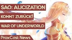 War of Underworld – 2. Hälfte von Sword Art Online: Alicization kommt im Oktober | Anime-News #99