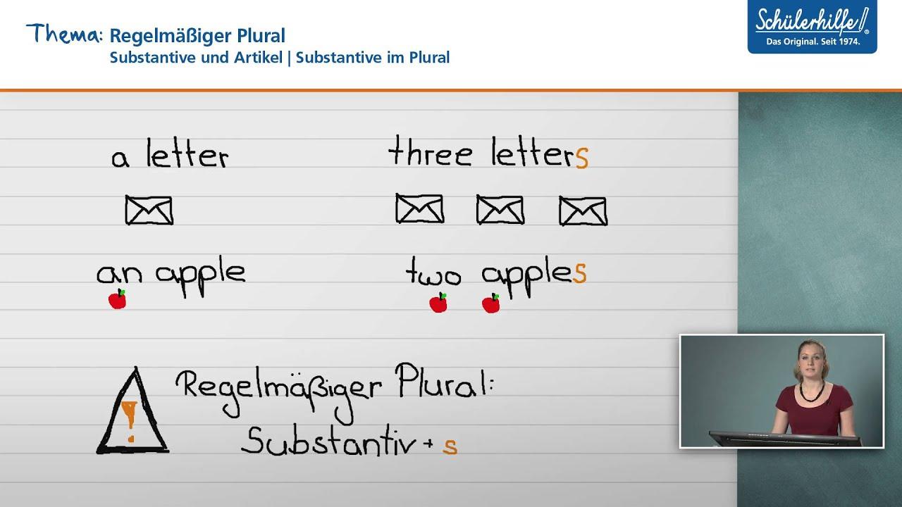 Substantive im Plural // Substantive und Artikel // Englisch ...