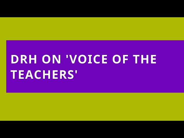 DWDD Katropa Radio 'Voice of the Teachers': Mental Health Blogging