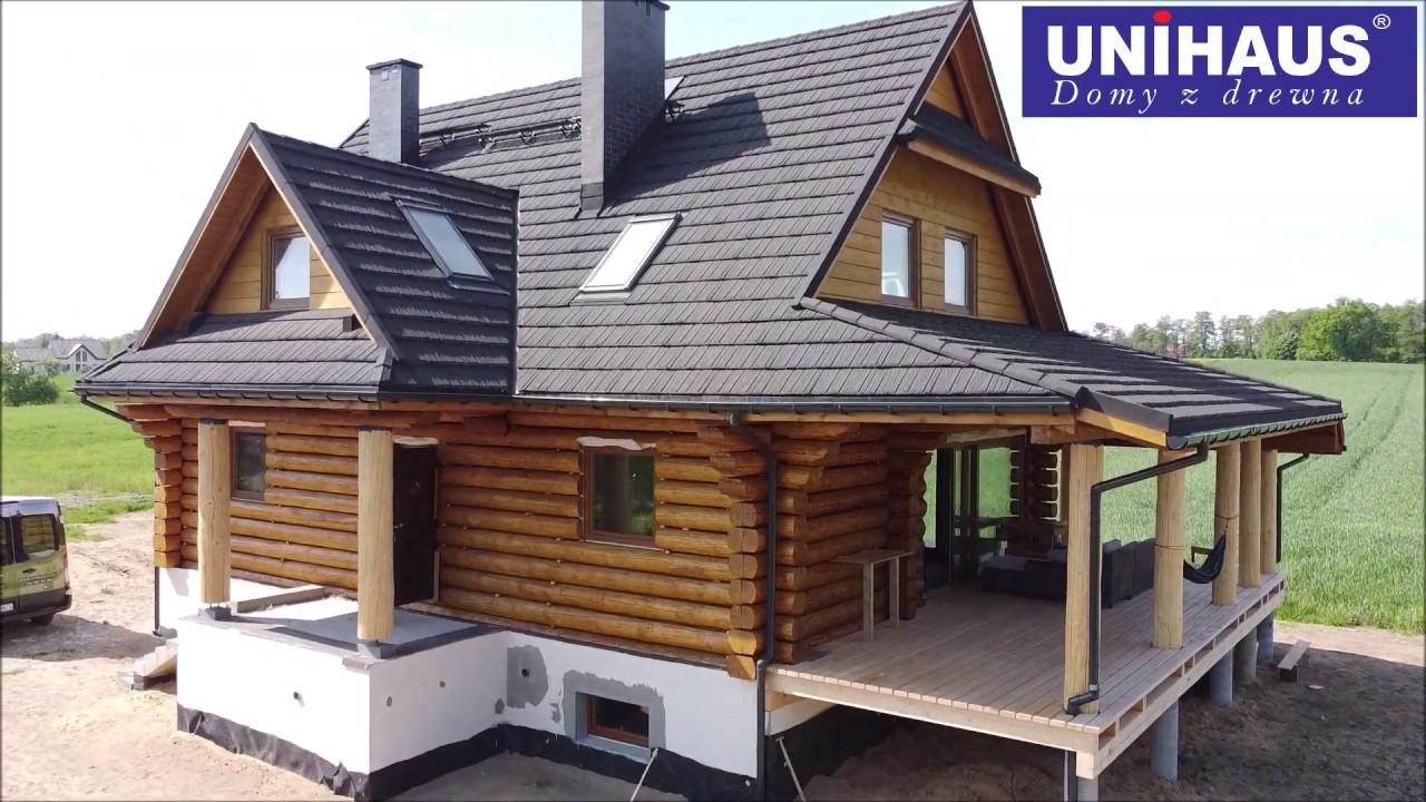 Budowa domu z bali naturalnie okrągłych o średnicy ok 30cm