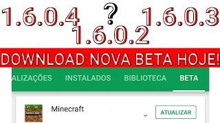 DOWNLOAD DA NOVA BETA DO MINECRAFT PE 1.6 SAI HOJE !! CORREÇÕES DE BUGS E MAIS ! (CHANGELOG)