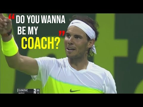 Throwback to Rafa asking a fan if he wants to be his coach, Novak & Fognini weird handshake and More Tennis Drama!