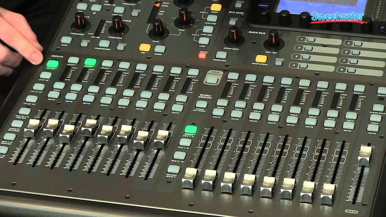 Behringer X32 Producer Digital Mixing Console Overview ...