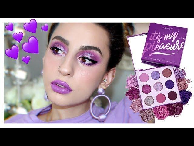 Purple Makeup Look feat. Colourpop Its My Pleasure Palette!
