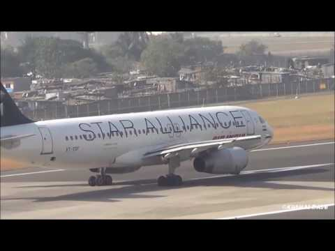 [Star Alliance] Air India Airbus A320-231 (VT-ESF) takeoff from Mumbai Airport