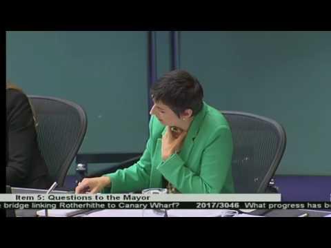 Caroline Pidgeon challenges the Mayor on Rotherhithe bridge