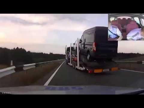 Un camion fou sème la panique     (Course Poursuite) en Ukraine.