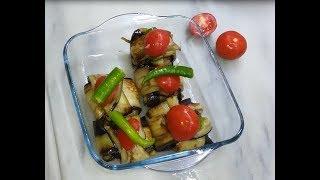 patlıcan sarma kebabı ve  bezelye yemeği ramazan menüsü