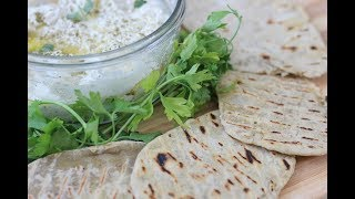 Middle Eastern Labneh with Za'atar and Flatbread | Magda