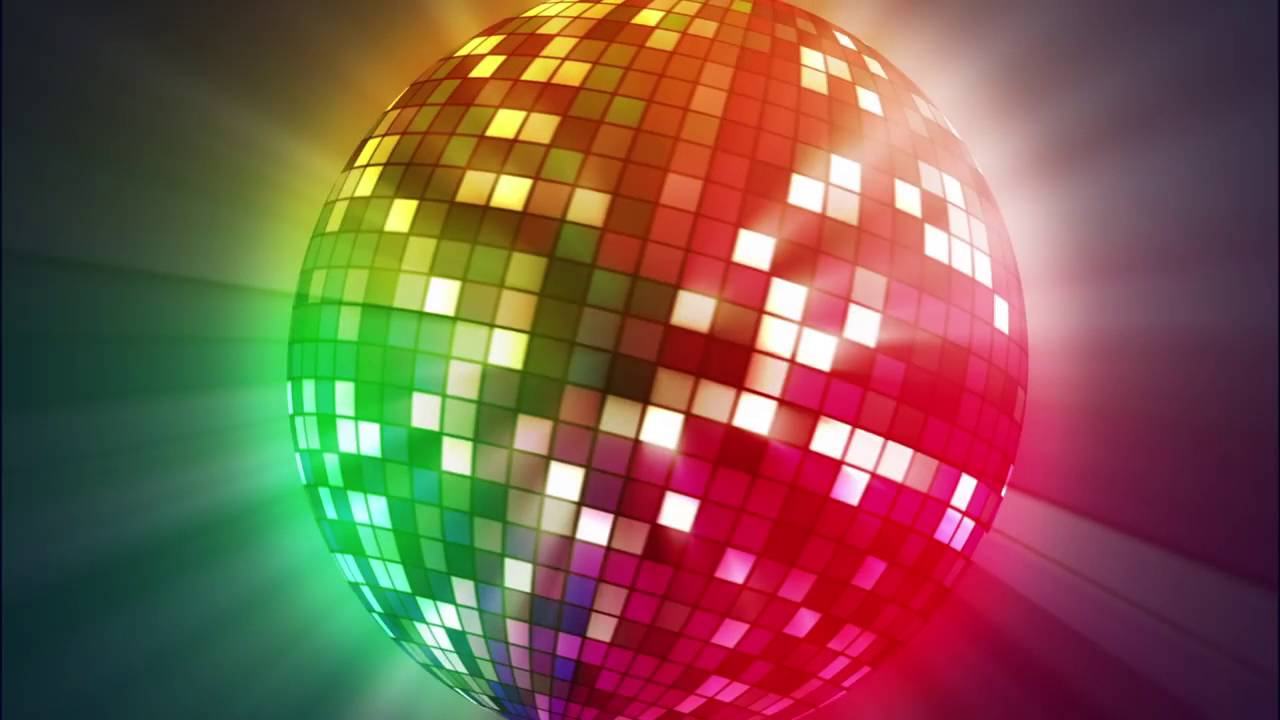 Disco Ball Animated Video Background Loop - karaoke Conc ...