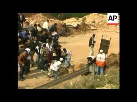 West Bank/Gaza: Mideast: Checkpoint: Palestinians protests
