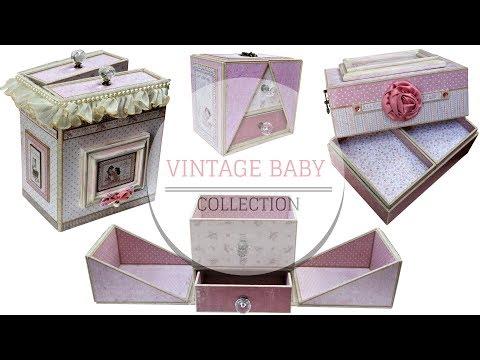 SCRAPBOOK - DIY TUTORIAL: Vintage Baby Collection /Maja Design, Vintage Baby