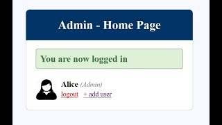 Admin and User login system PHP and MySQL database
