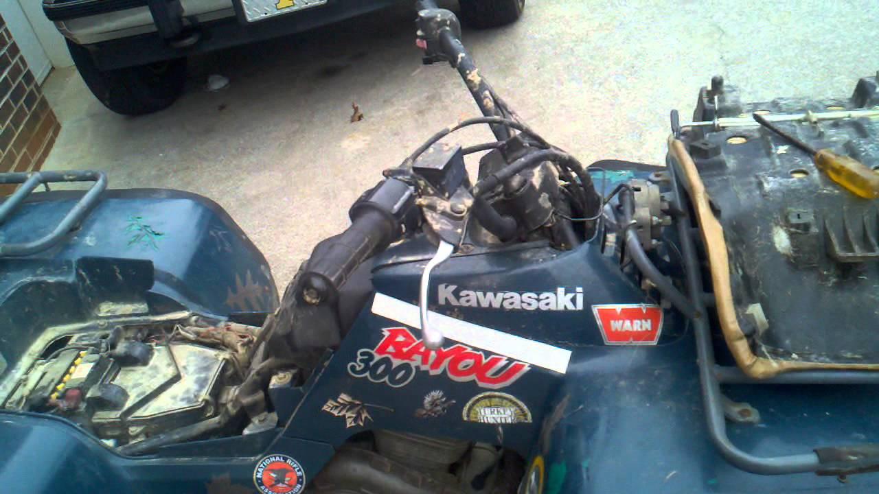 1997 Kawasaki Bayou 300  YouTube