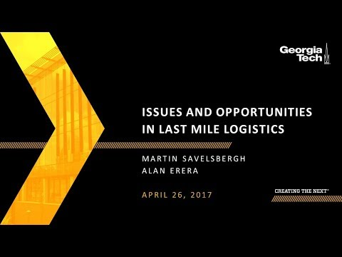 Issues and Opportunities in Last Mile Logistics