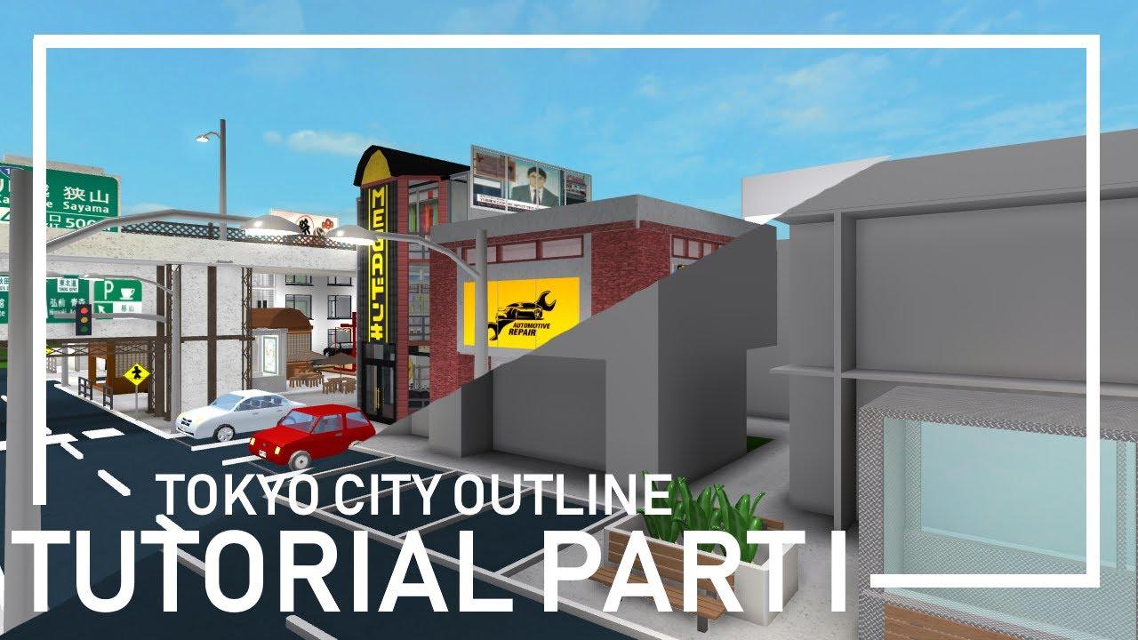Bloxburg Tokyo City Outline Tutorial Part 1 Youtube