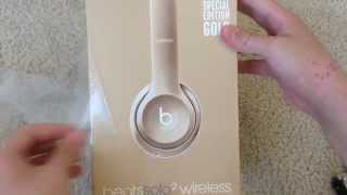 Special Edition Gold Beats Solo 2 Wireless Unboxing