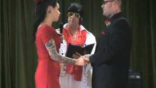 Elvis Wedding of Jezabelle and Seth, Performed by Alan Katz