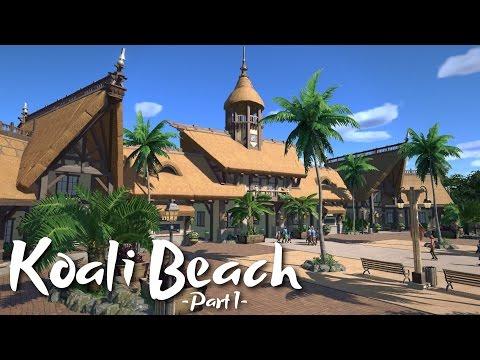 Planet Coaster - Koali Beach Park (Part 1) - Tropical Entrance (ft. De-Lady-signer & Keralis)