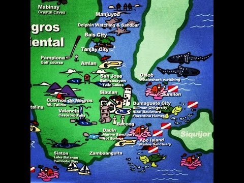Dumaguete Negros Oriental Tourist Map by HourPhilippines.com