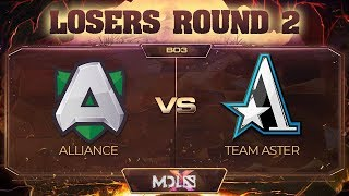 Alliance vs Team Aster Game 1 - MDL Chengdu Major: Losers' Round 2