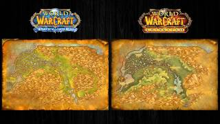 World of Warcraft: Cataclysm Сравнение карт локаций. ( WOW Cat, WotLK )