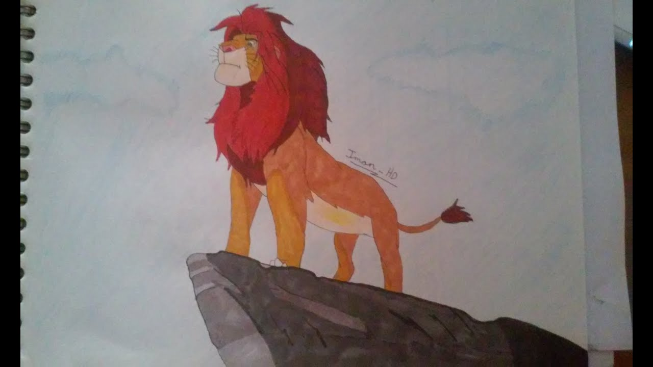 Dibujo Simba | El rey leon - YouTube
