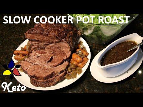 Easy Keto Slow Cooker Beef Pot Roast With A Rich Gravy (sugar Free, Gluten Free)