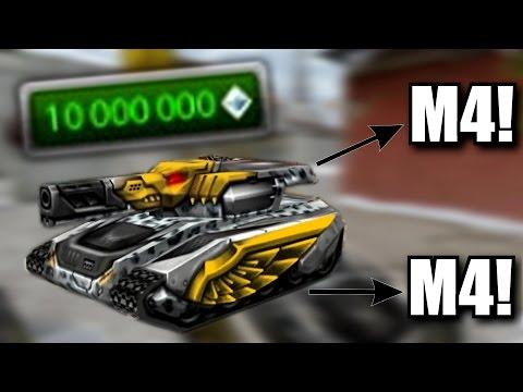 Tanki Online - 10000000 MILLION CRYSTALS! Hornet XT M4 + Thunder XT M4 Gameplay! (Test Server)