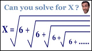Can you solve the never ending square root?