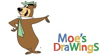 The Yogi Bear Show How to draw and coloring fun new Hd video for kids
