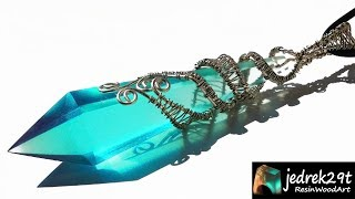 Crystal Blue Pendant  with Epoxy Resin / ART RESIN / Part 1
