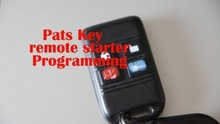 diy programming a pats key remote starter