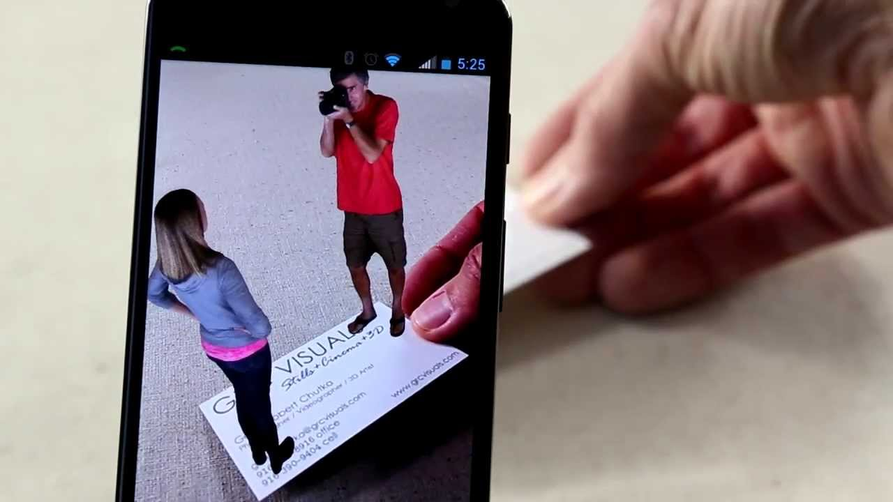 Photographer augmented reality business card youtube reheart Choice Image
