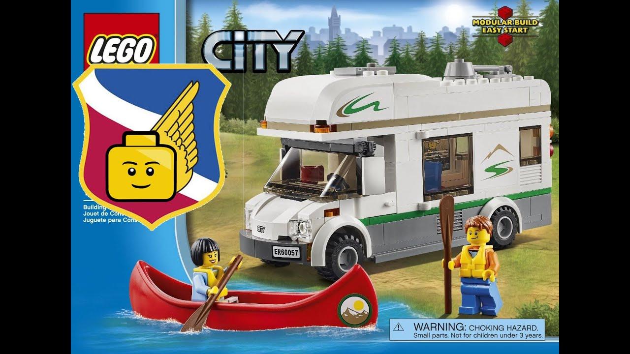Lego City Great Vehicles 60057 Camper Van Manual Speed Build