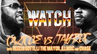 WATCH: CALICOE vs TAY ROC with GEECHI GOTTI, LI THE MAYOR, ILLMAC and CHASE MOORE