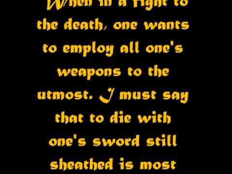 Quotes From The Book Of Five Rings By Miyamoto Musashi Youtube