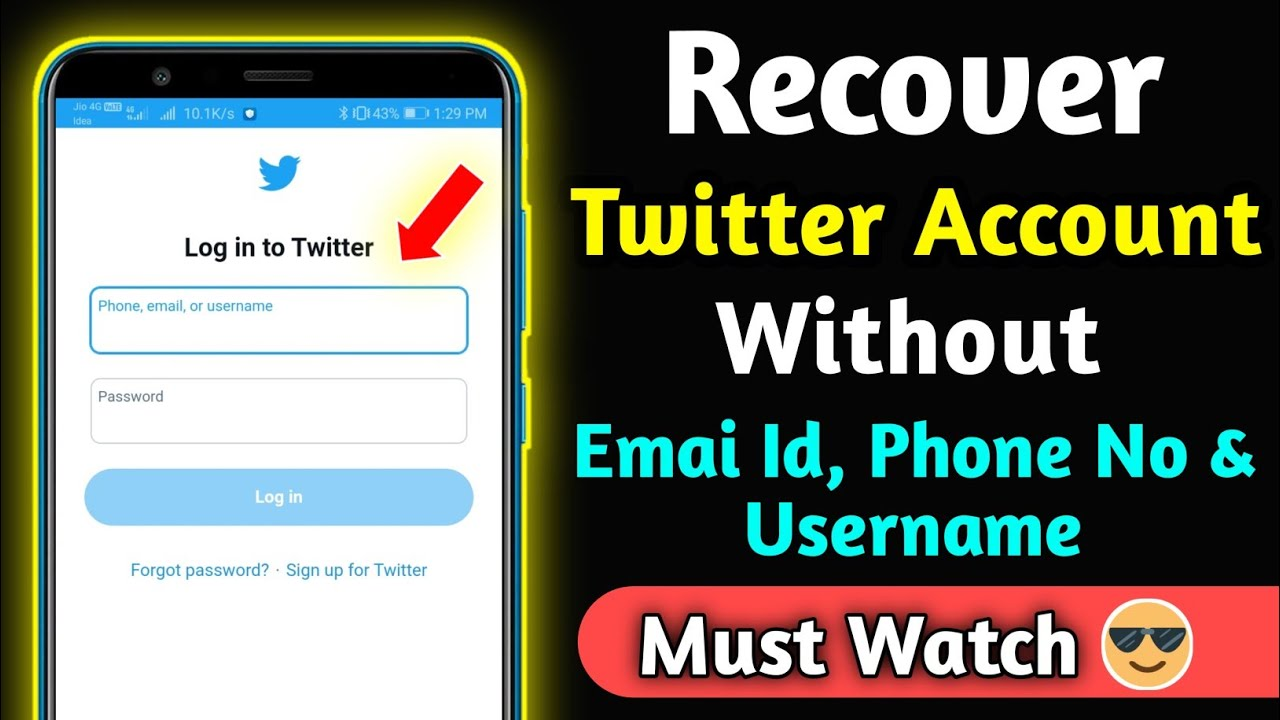 I forgot my email Id and password of Twitter how to login